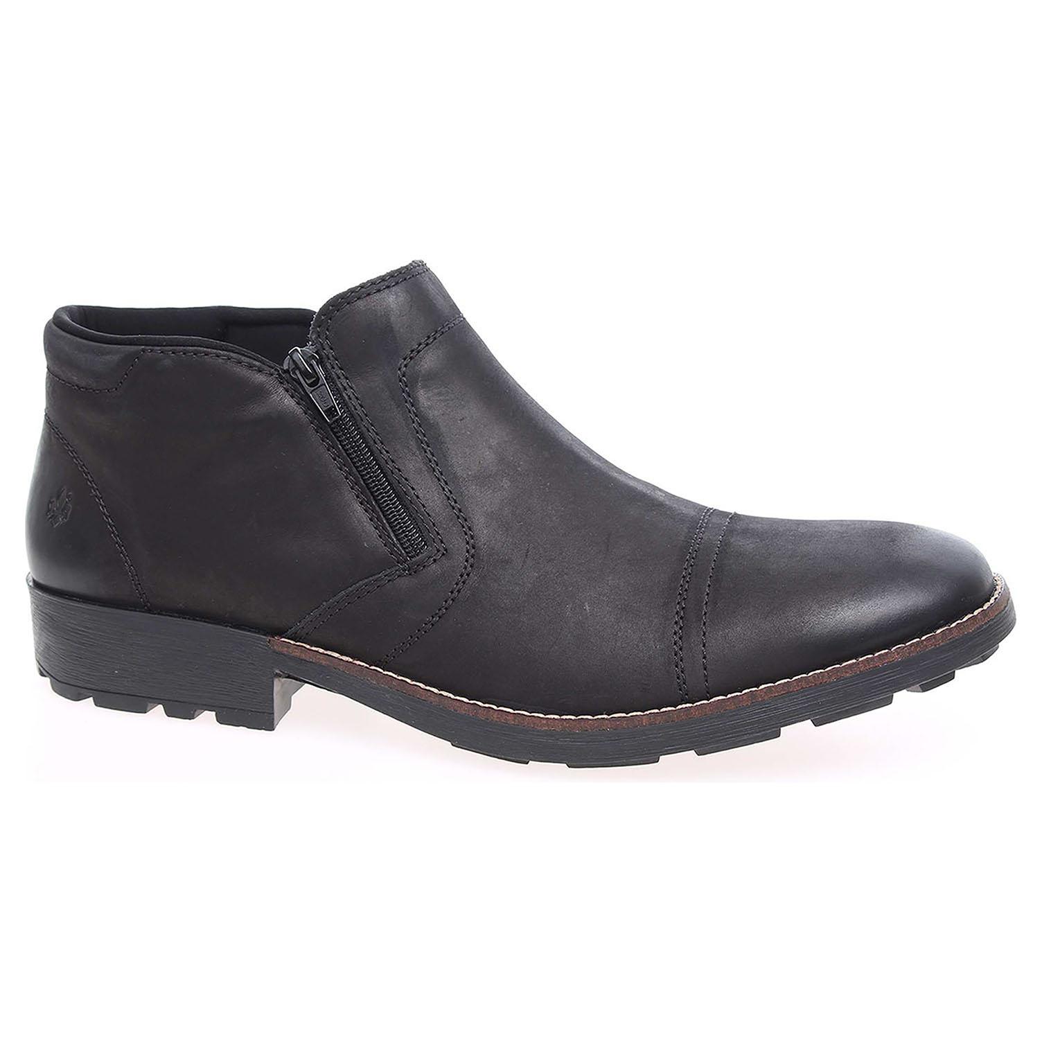 Pánská kotníková obuv Rieker 16063-00 schwarz 16063-00 42