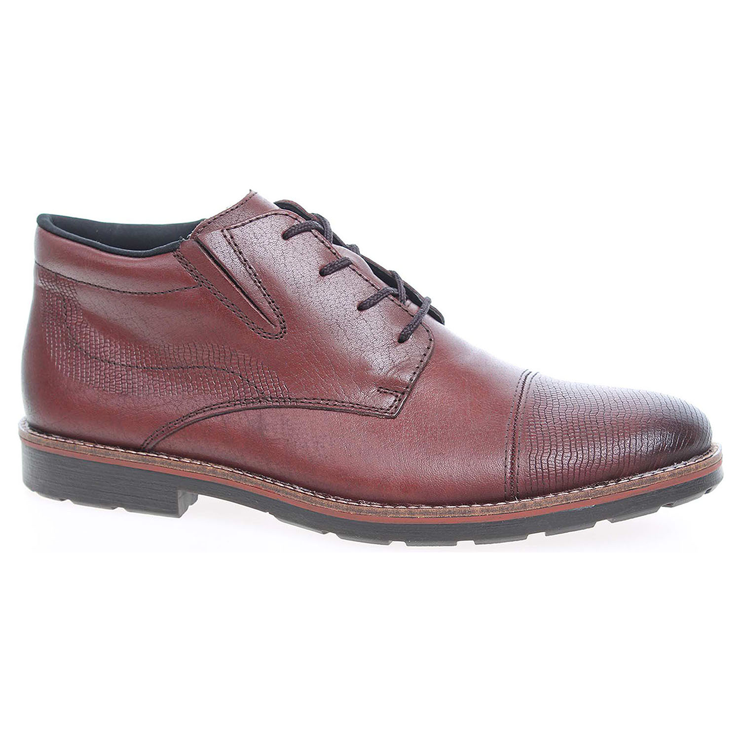 Pánská kotníková obuv Rieker 15341-25 hnědé 46
