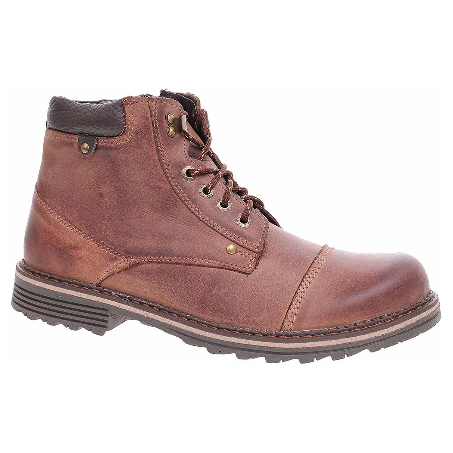 Pánská kotníková obuv F0298 hnědá crazy F0298 hnedá crazy 42