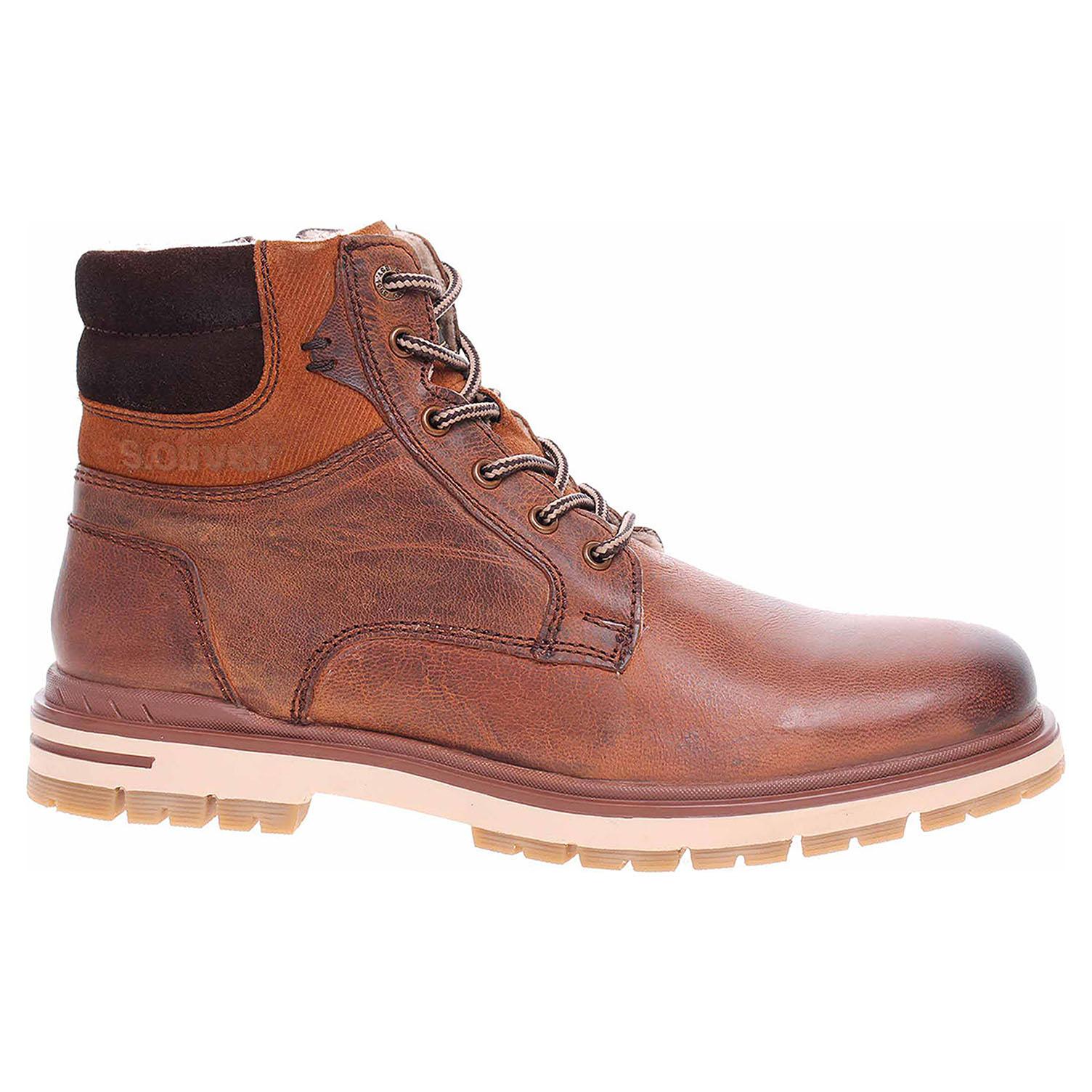 Pánská kotníková obuv s.Oliver 5-16208-23 tan 5-5-16208-23 311 45