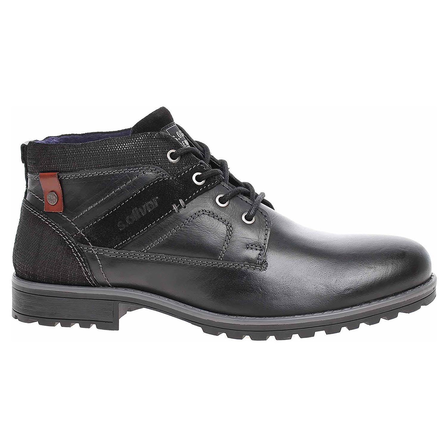Pánská kotníková obuv s.Oliver 5-15232-23 black 5-5-15232-23 001 45