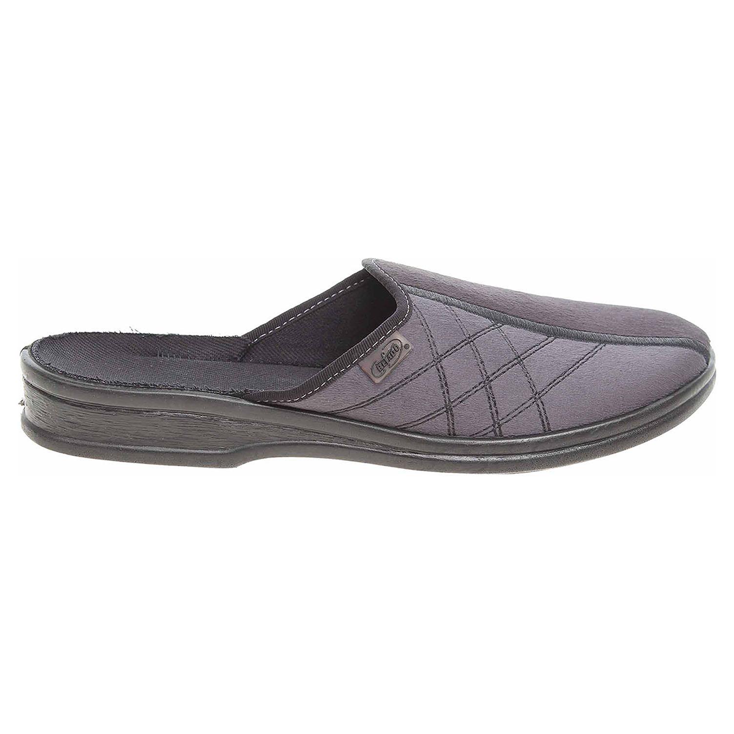 Befado domácí pantofle 093M015 černá-šedá 093M015 41