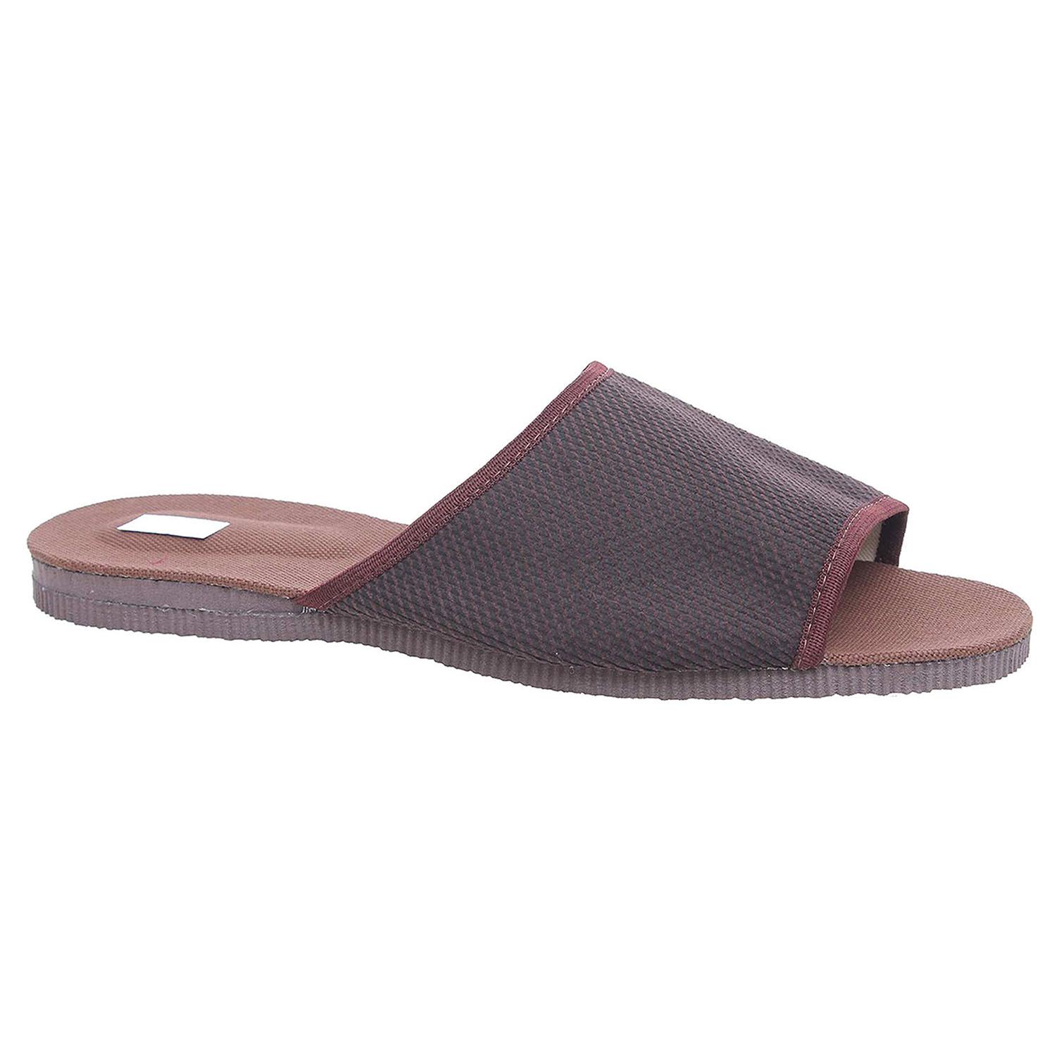 Pánské domácí pantofle 3009.00 hnědá 46