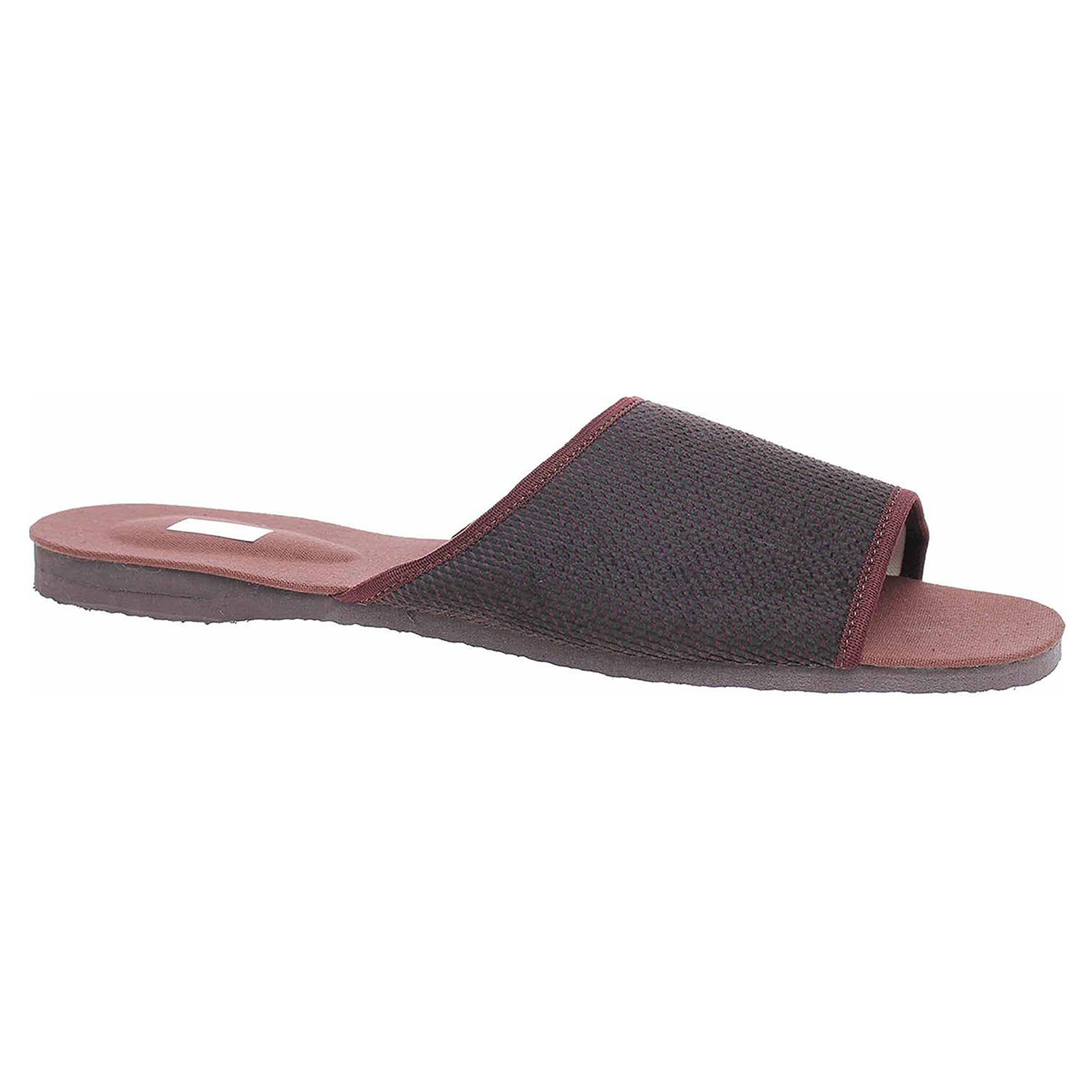 Pánské domácí pantofle Pegres 3009.01 hnědá 3009.01 hnědá 47