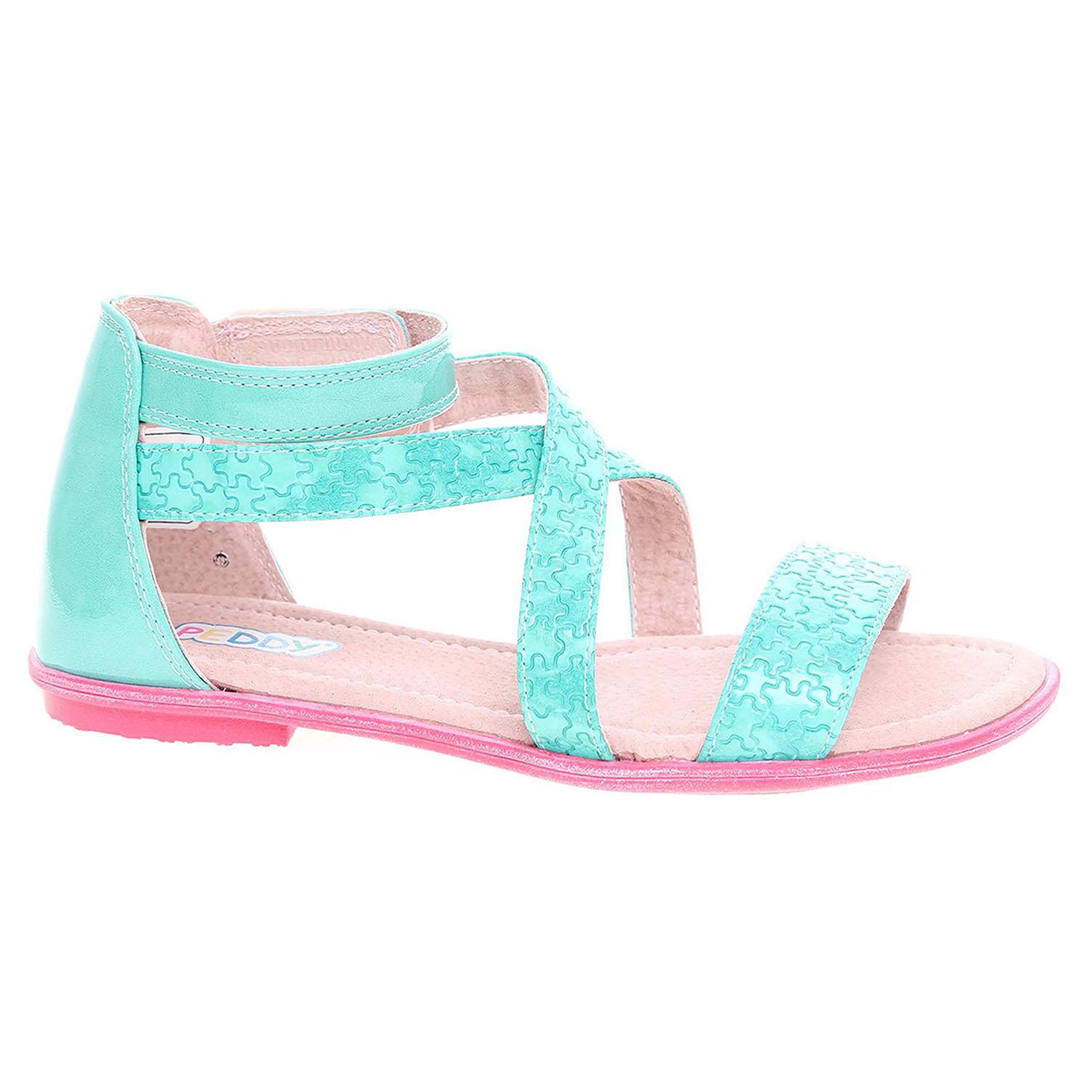 Dívčí sandály Peddy PU-512-38-07 zelené 31