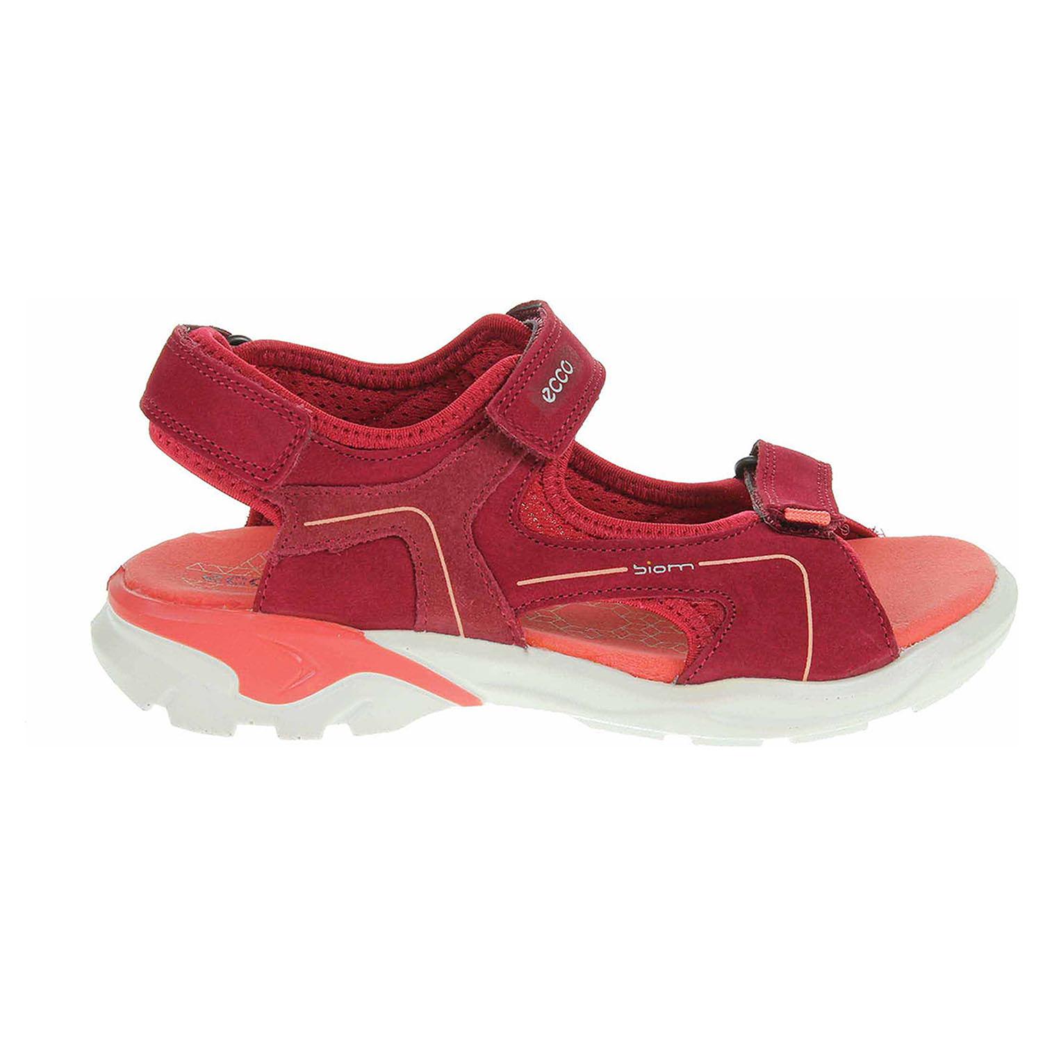 Ecco Biom Raft dívčí sandály 70063251082 brick-chile red-spiced coral 70063251082 28