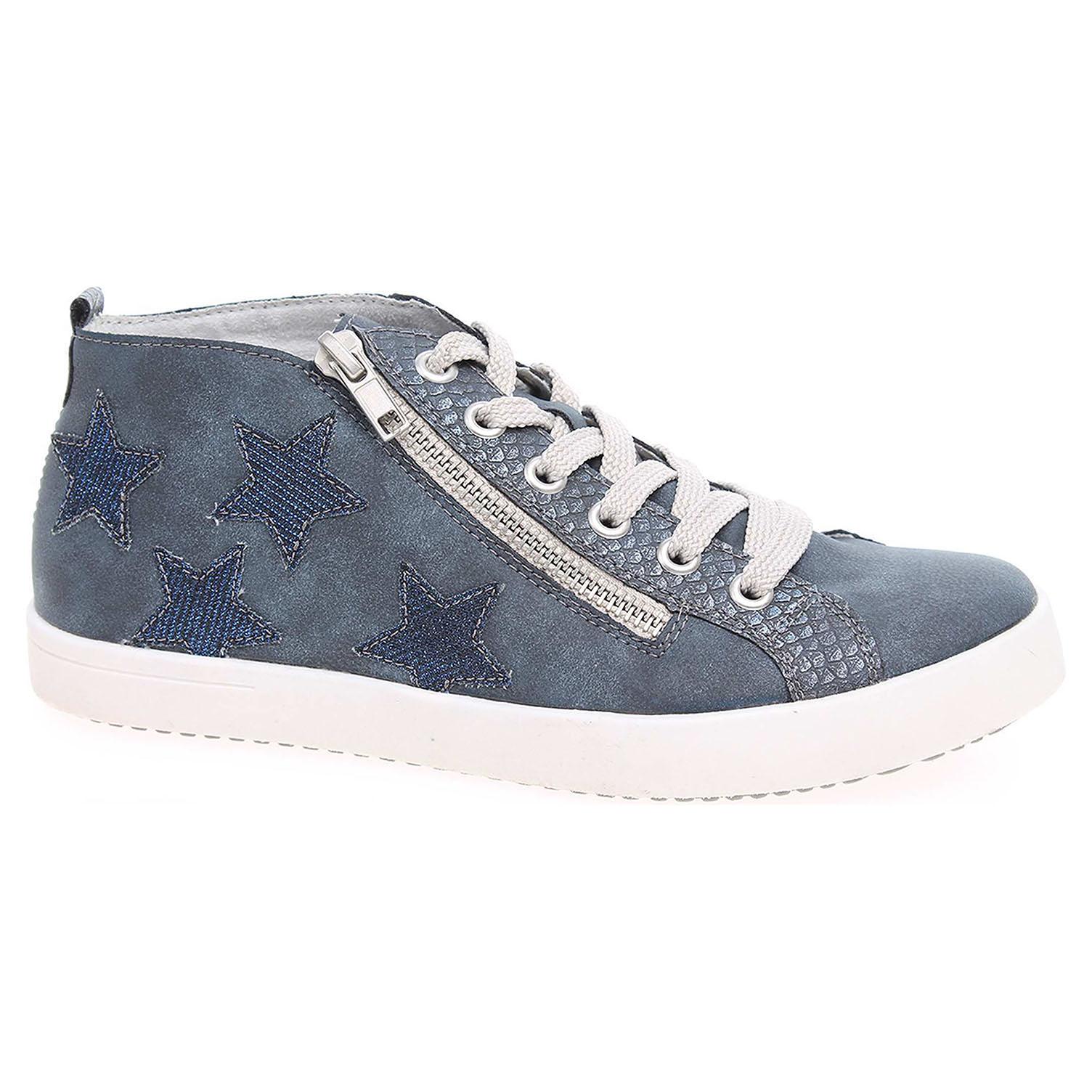 Dívčí kotníková obuv Rieker K5200-14 modré 39
