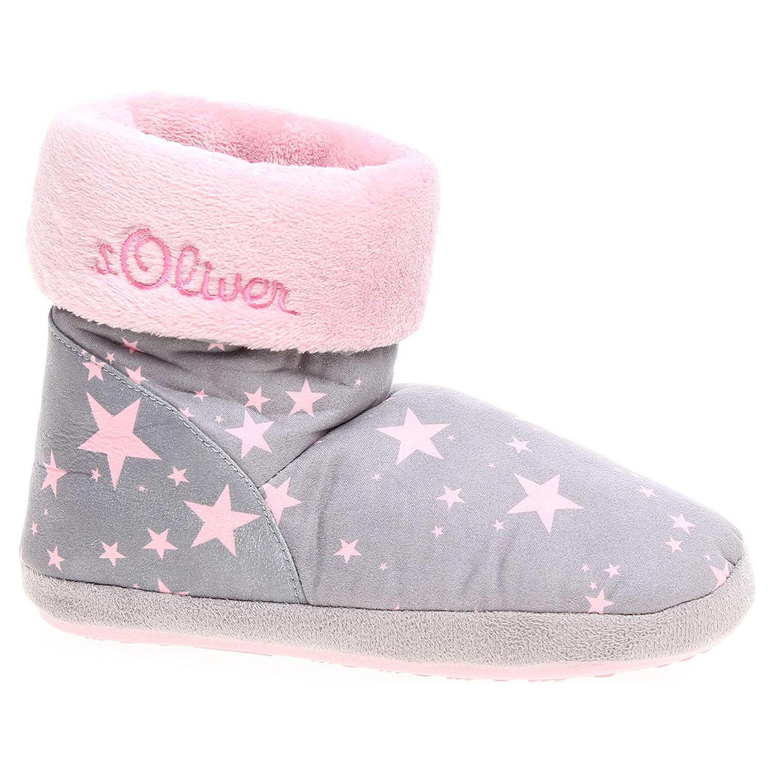 Domácí obuv s.Oliver dívčí 5-35438-39 grey comb 5-5-35438-39 201 30
