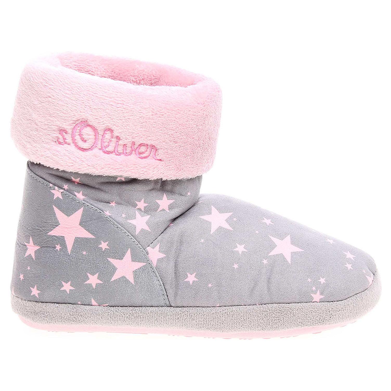 s.Oliver dívčí domácí obuv 5-35438-39 grey comb 5-5-35438-39 201 32