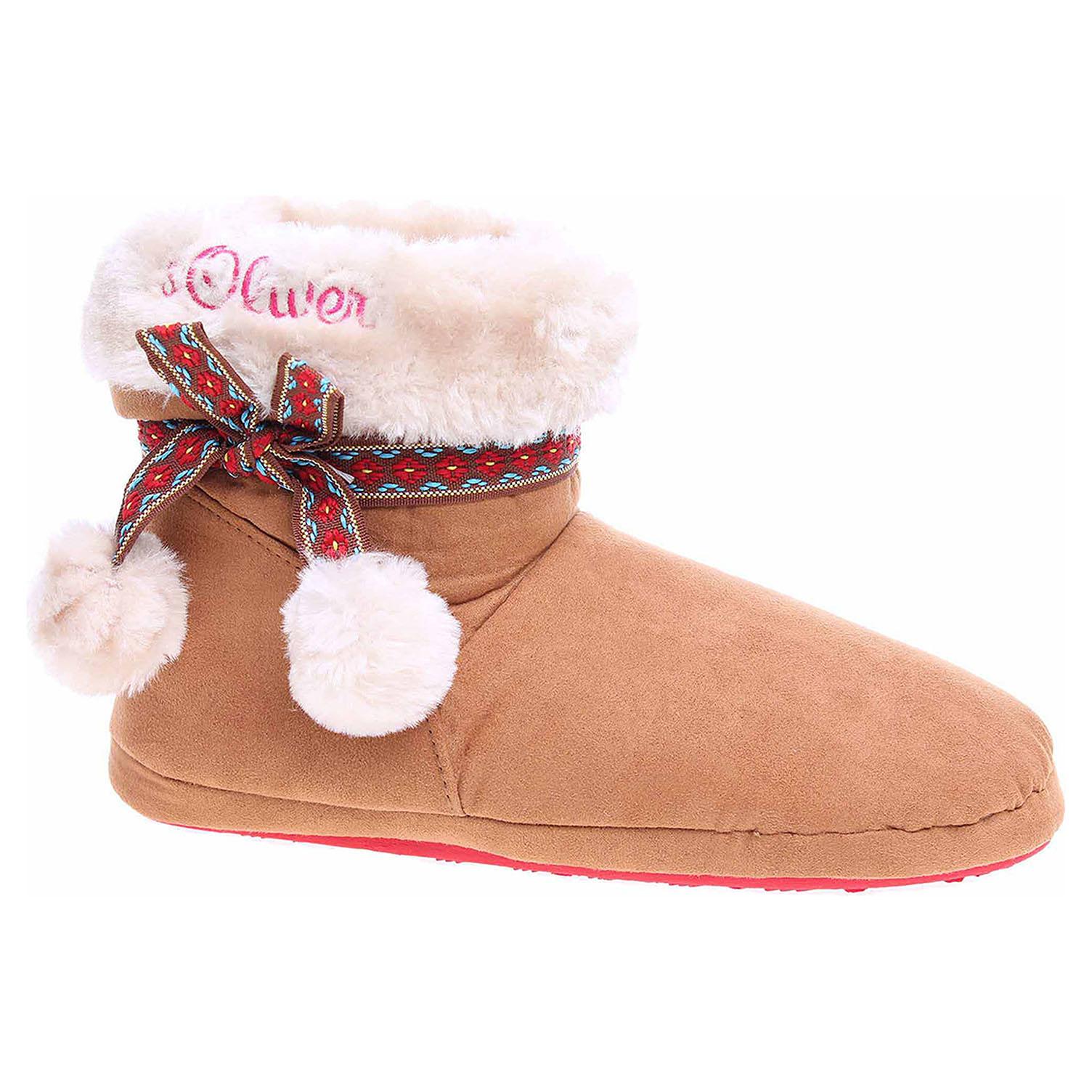 Domácí obuv s.Oliver dívčí 5-45440-39 cognac 5-5-45440-39 305 38