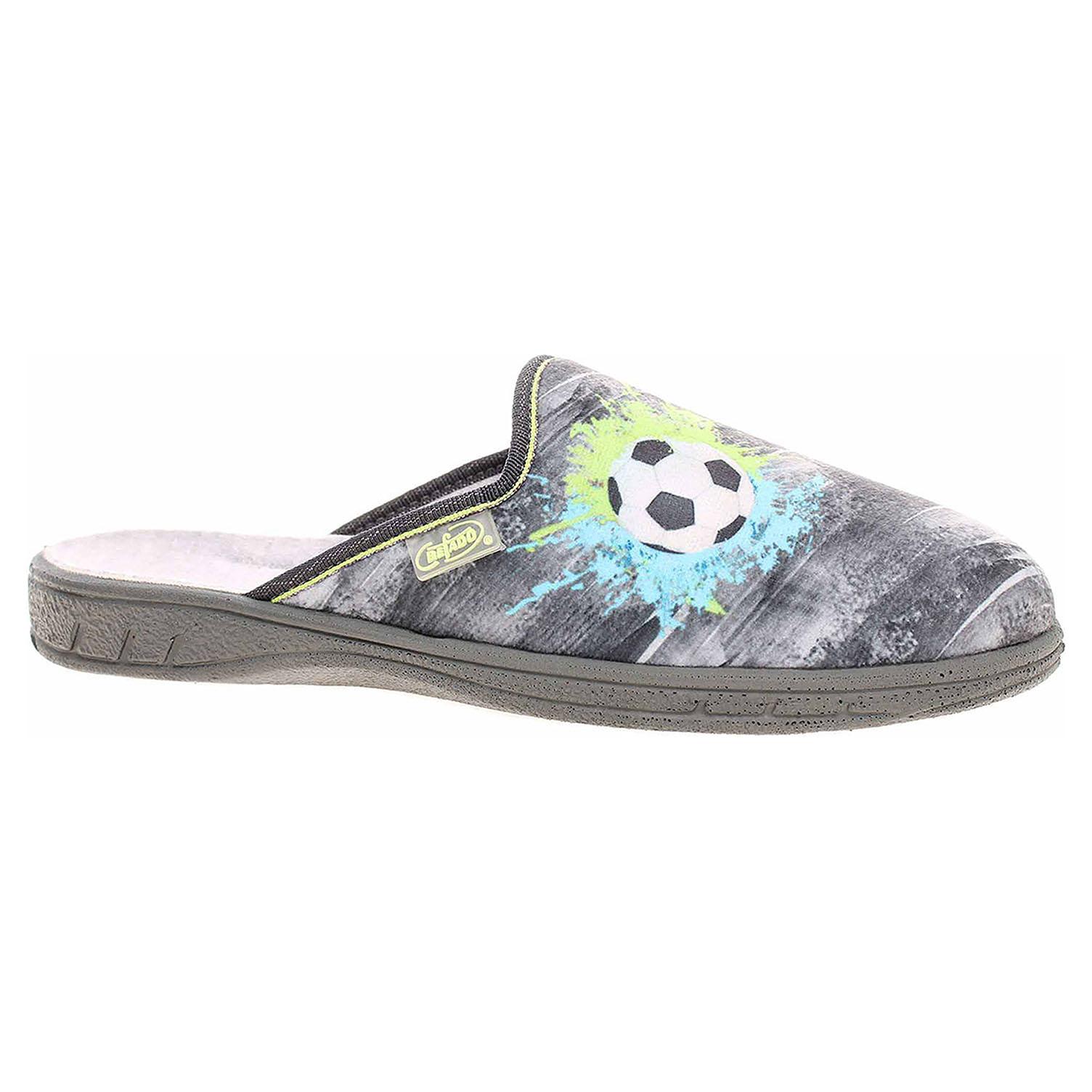 Befado chlapecké domácí pantofle 707Y395 šedá 707Y395 33