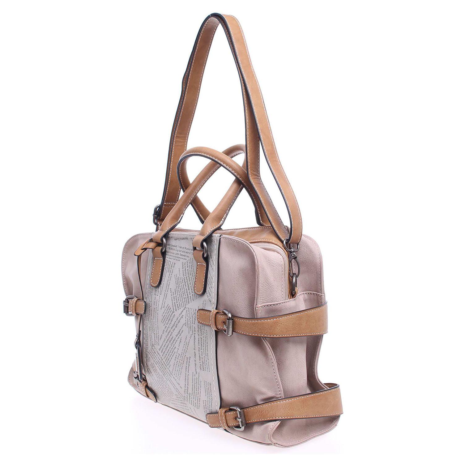 Rieker kabelka H1026-40 béžová-šedá  e704bbe4b27