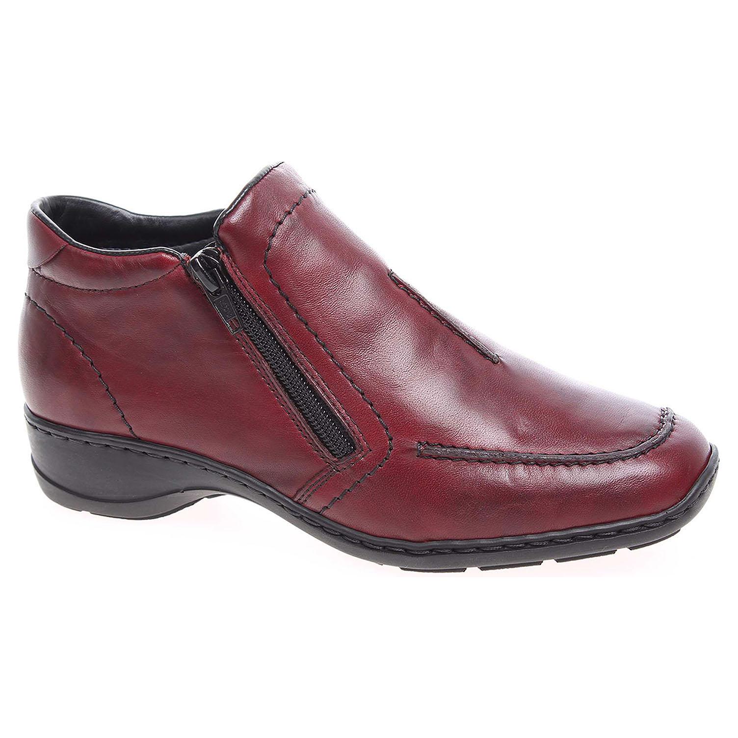 5f8562f552 detail Dámska topánky Rieker 58386-35 rot
