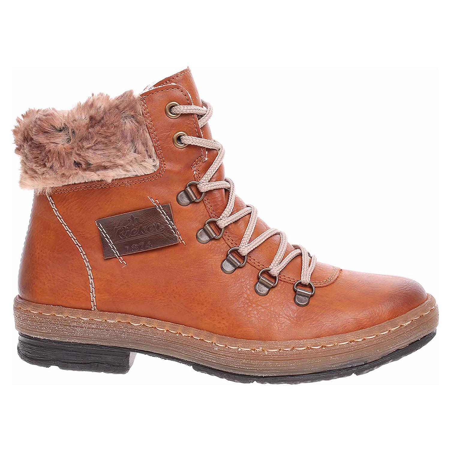 144f565fc9c06 Dámska členkové topánky Rieker Z6743-24 braun   REJNOK obuv