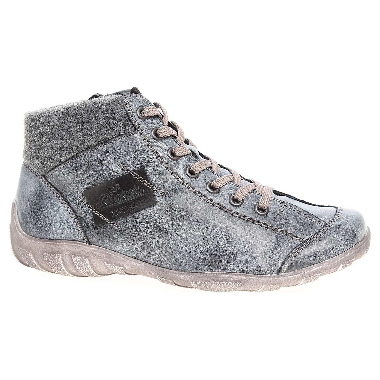 50a31ee84 Dámska členkové topánky Rieker L6540-14 modré   REJNOK obuv