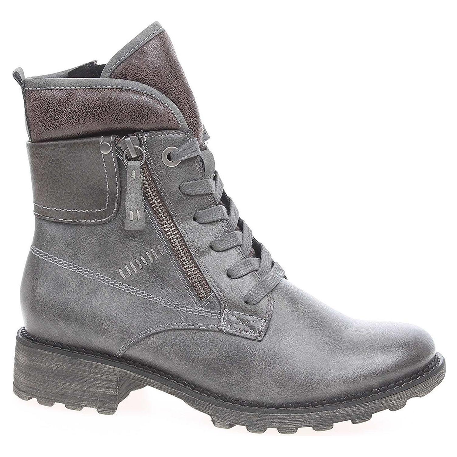 c93c12053882e Dámska členkové topánky Tamaris 1-26248-29 šedé | REJNOK obuv