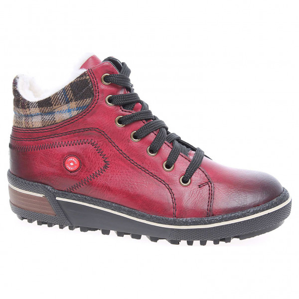 73fbf9ba50a6 detail Dámska členkové topánky Rieker Z6423-35 rot kombi