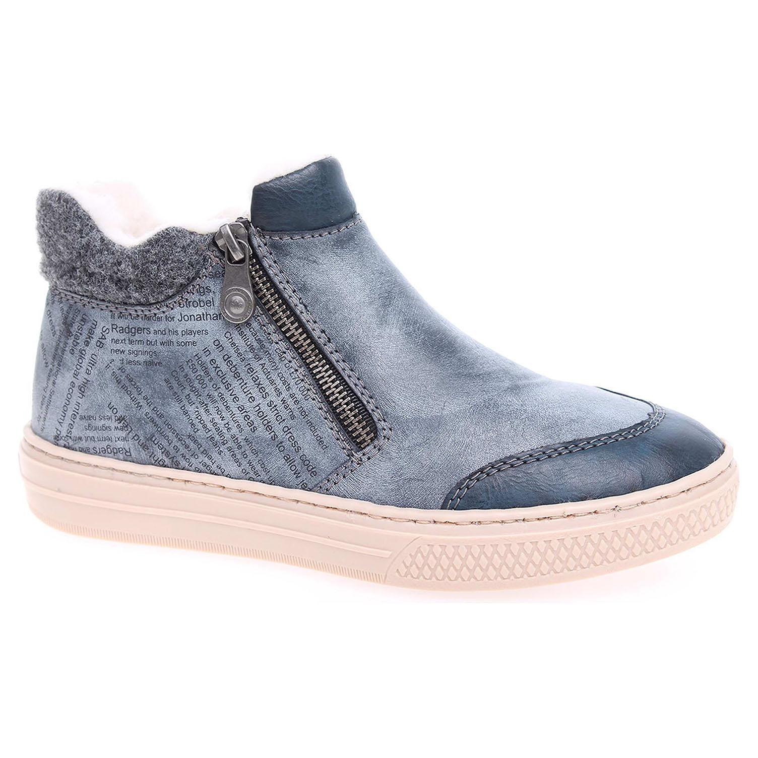 2f674d2e3 Dámska členkové topánky Rieker L5951-14 modré   REJNOK obuv