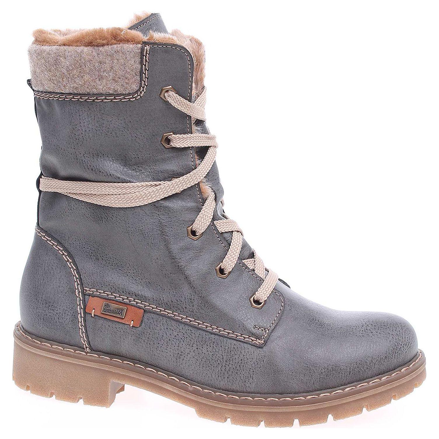 04859a3de3 detail Dámska členkové topánky Rieker Y9122-45 grau kombi