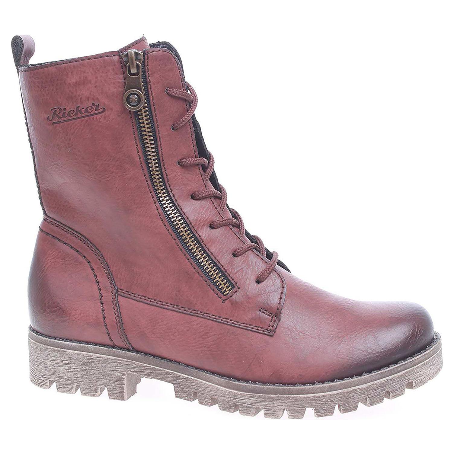 1476d036824f detail Dámska členkové topánky Rieker 785C4-35 rot