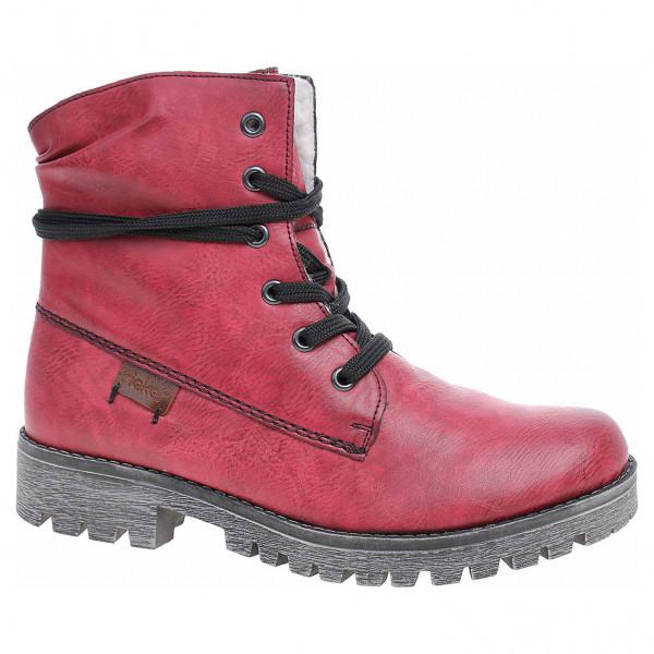 4a759036310e detail Dámska členkové topánky Rieker 78550-35 rot