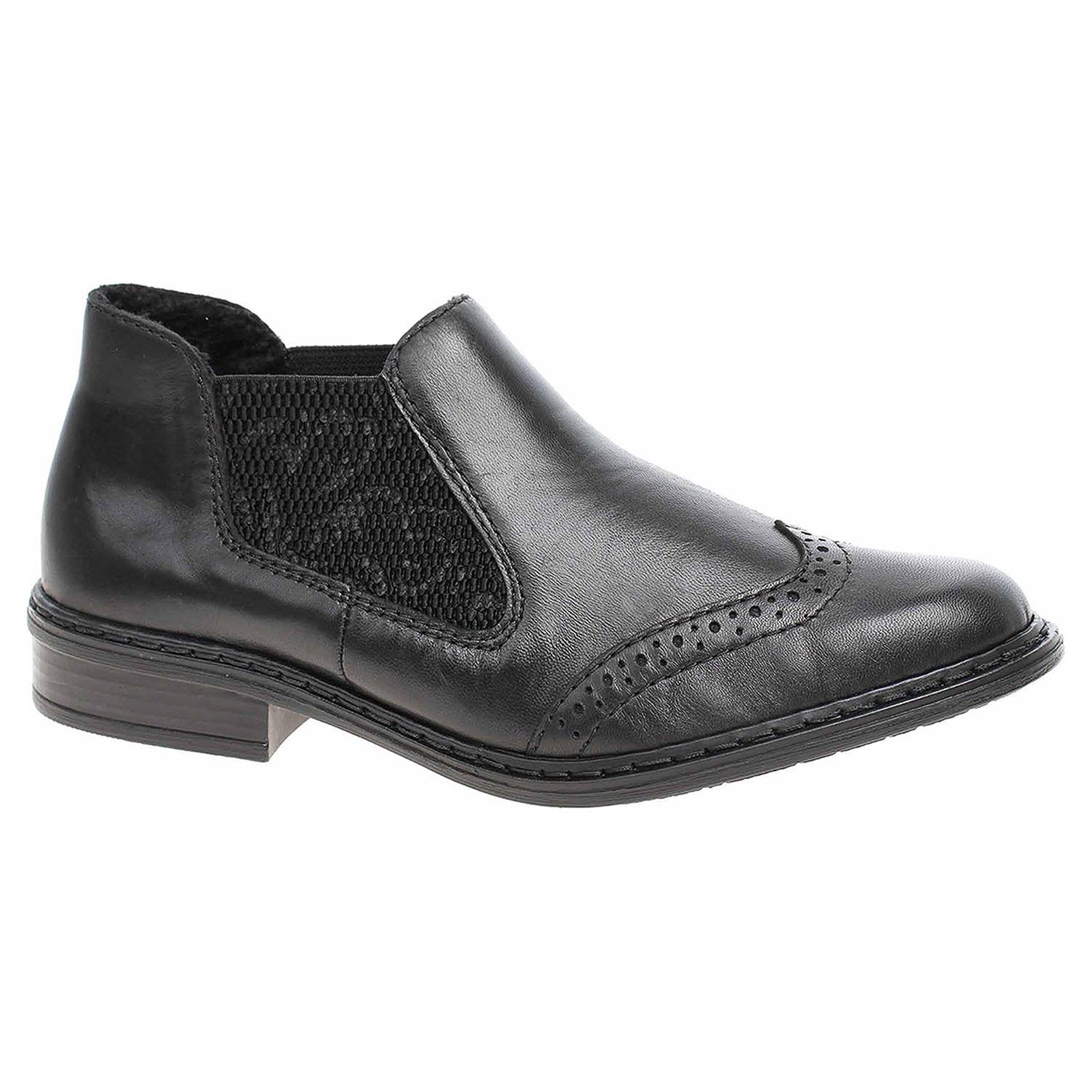 96f8c628805f7 Dámska topánky Rieker 52093-00 schwarz | REJNOK obuv