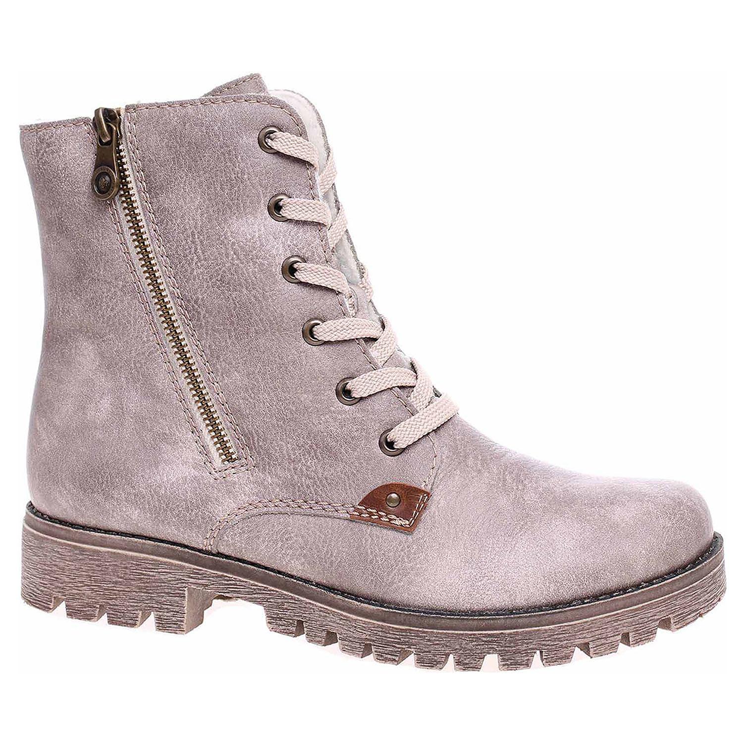 ecb0d7fddf9c1 Dámska členkové topánky Rieker 78539-42 grau | REJNOK obuv