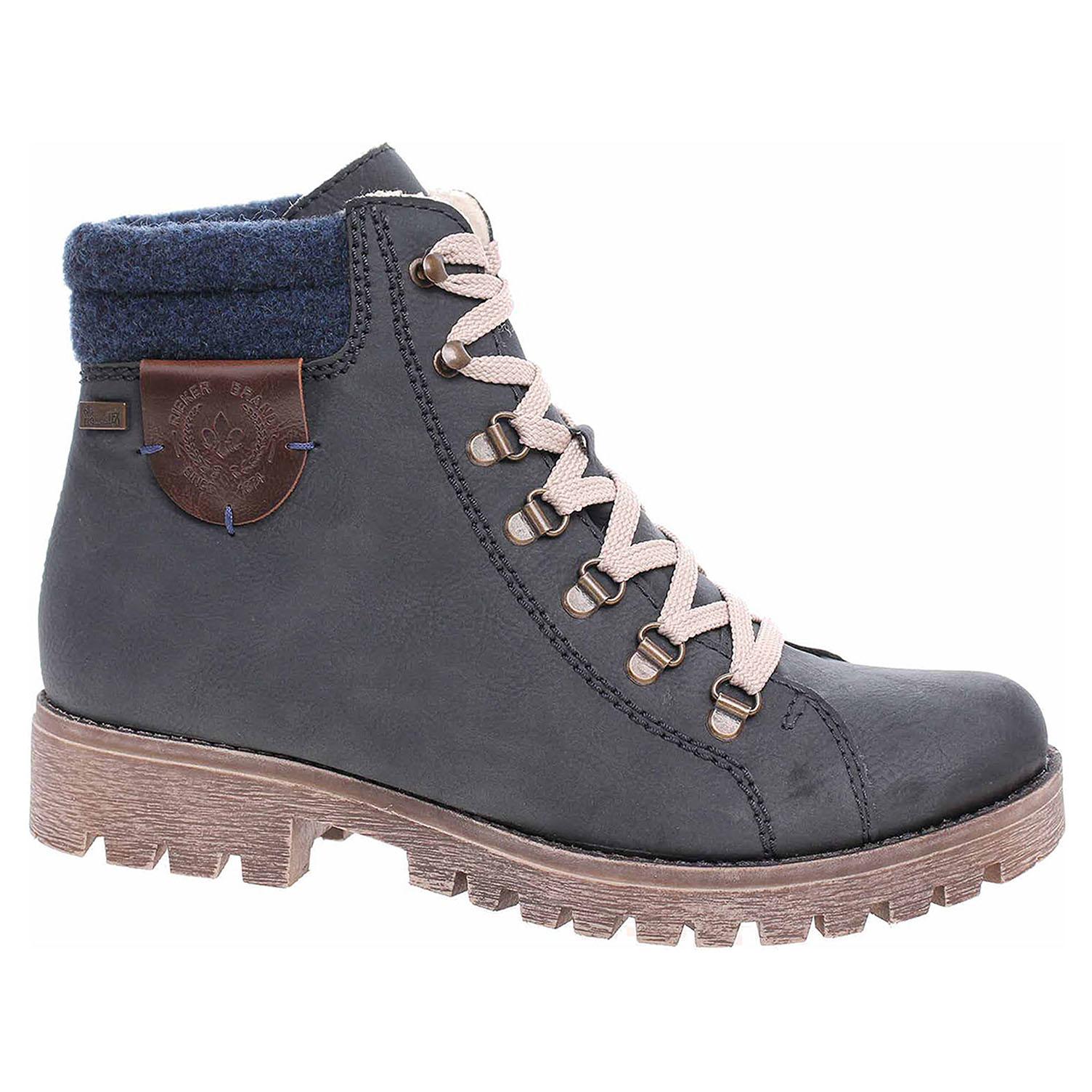 afa1e53bba detail Dámska členkové topánky Rieker 785F8-14 blau