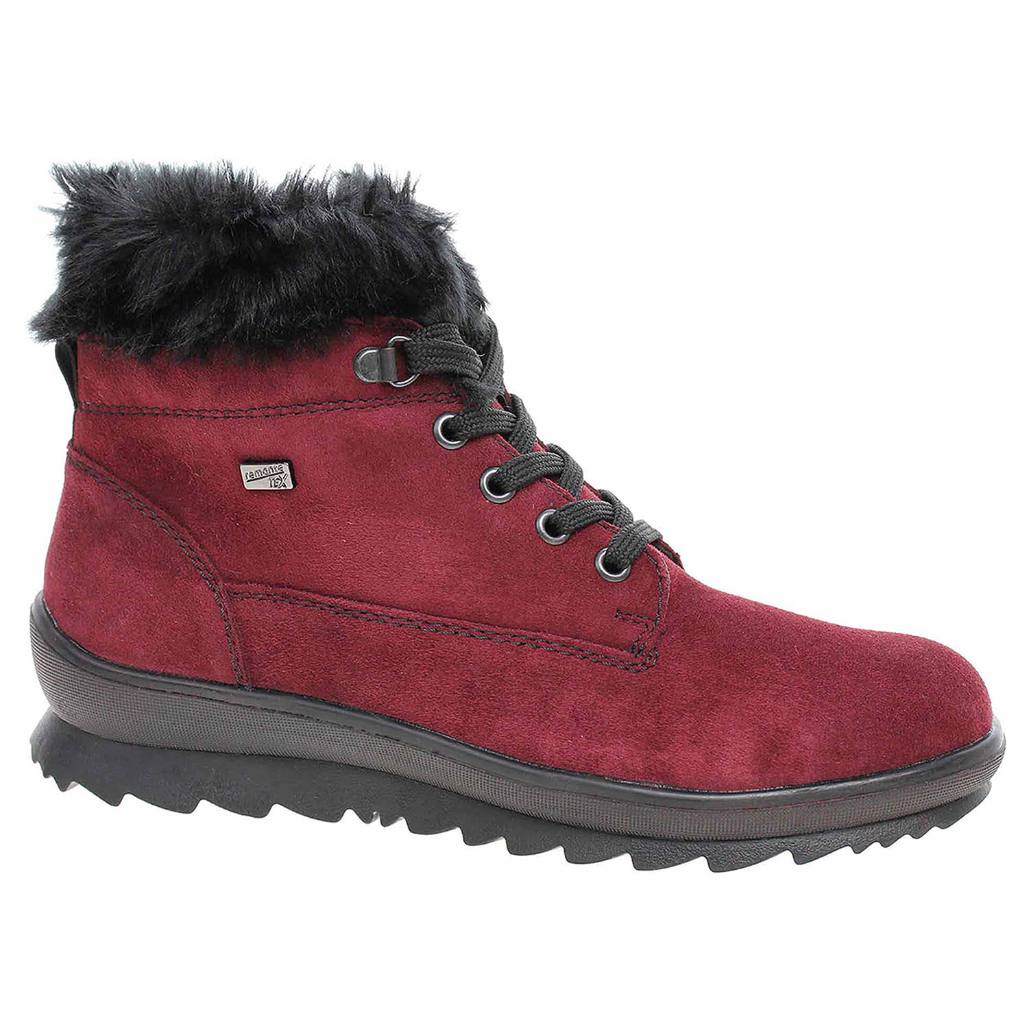 57405c0d46 detail Dámska členkové topánky Rieker R4370-30 rot kombi