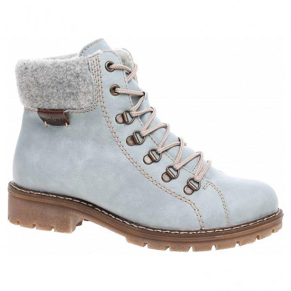 76c3a73cd0 detail Dámska členkové topánky Rieker Y9142-10 blau