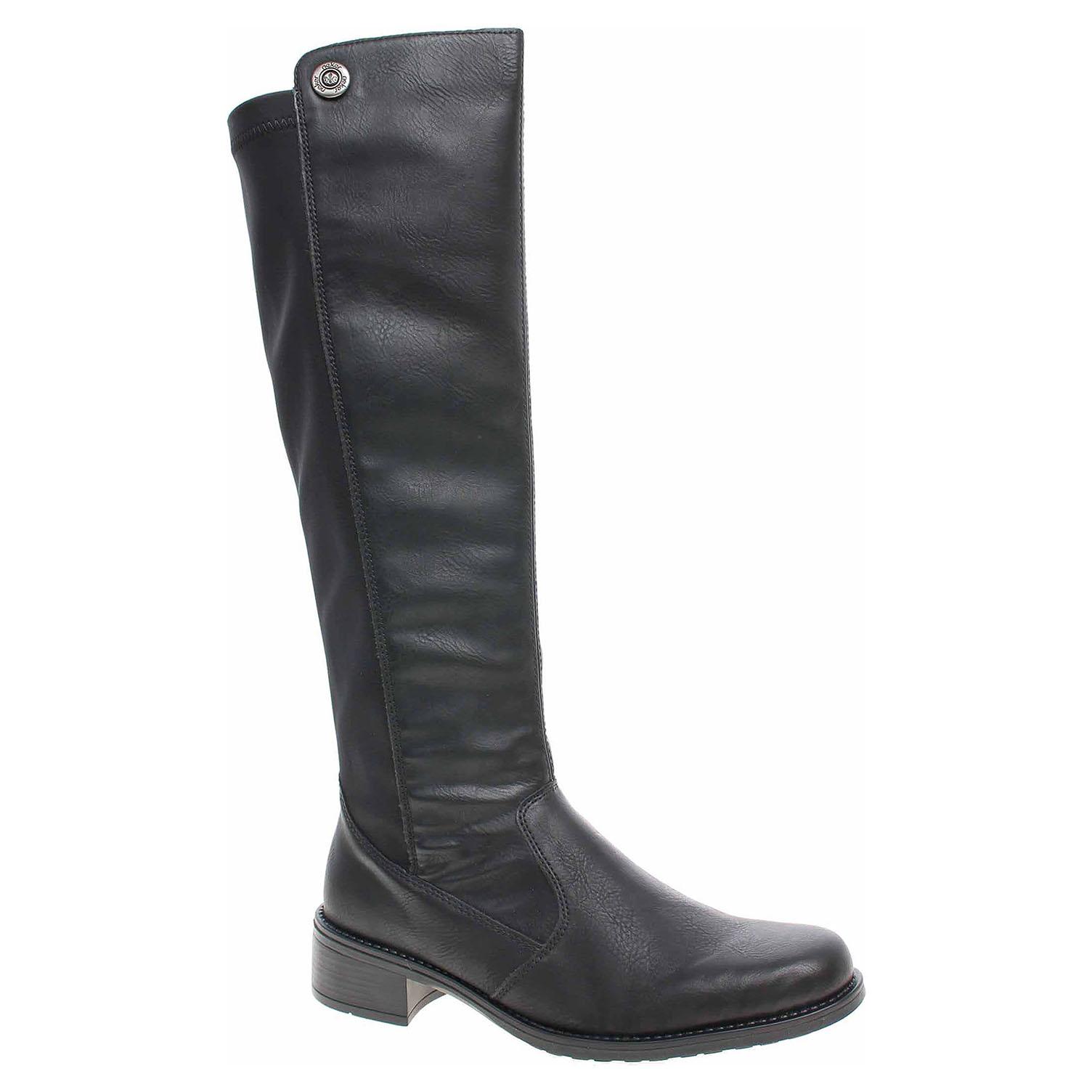 4165fcf56b66e Dámske čižmy Rieker Z7391-00 schwarz | REJNOK obuv