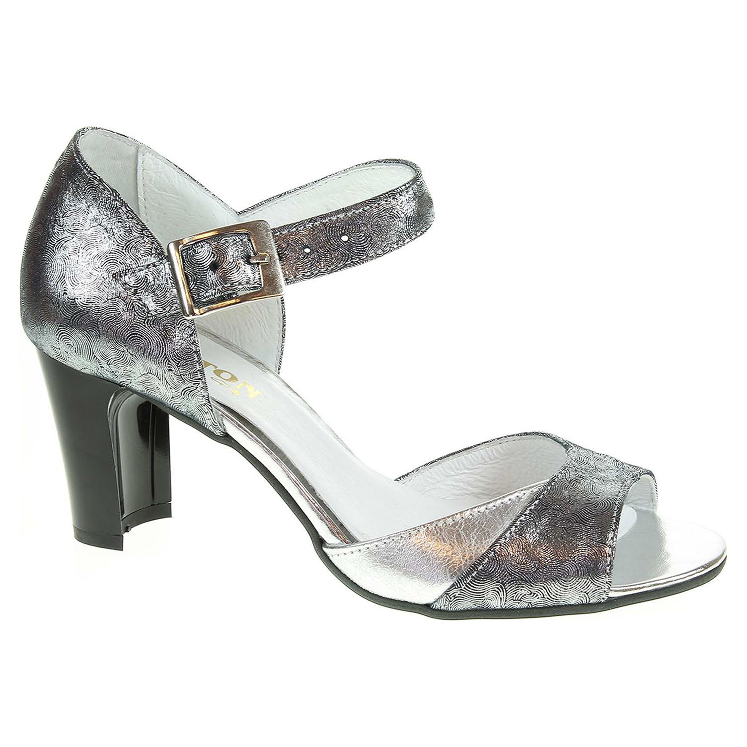 13684acb3134d Dámska spoločenské topánky Barton 1781 stříbrné | REJNOK obuv