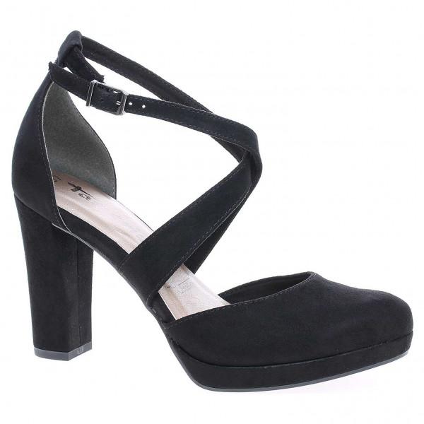 9d30b6be77d69 Dámska spoločenské topánky Tamaris 1-24416-21 black suede   REJNOK obuv