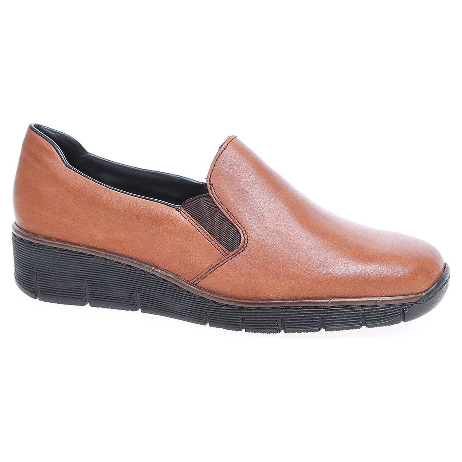 0230643d596f9 Dámske mokasiny Rieker 53766-24 hnědé   REJNOK obuv