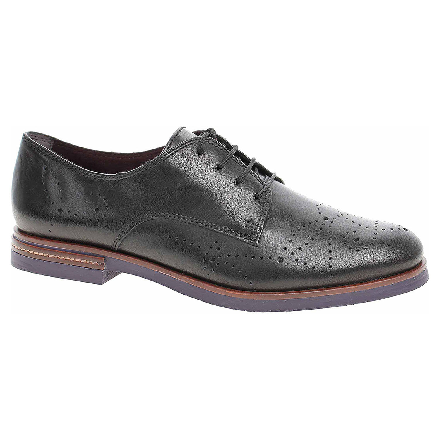 49076a269 Dámske poltopánky Tamaris 1-23208-31 black | REJNOK obuv