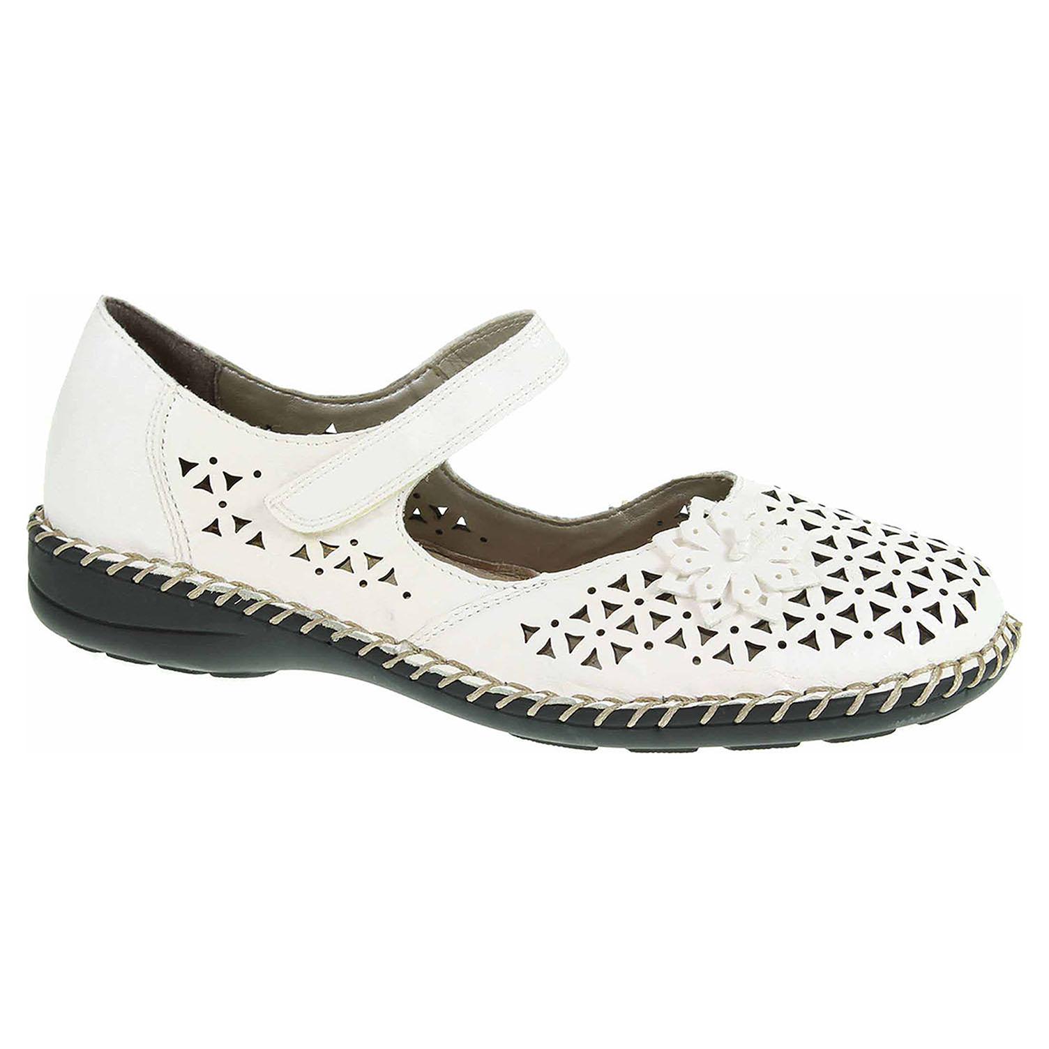 c075e6e0d2579 Dámske baleriny Rieker 49876-80 weiss | REJNOK obuv