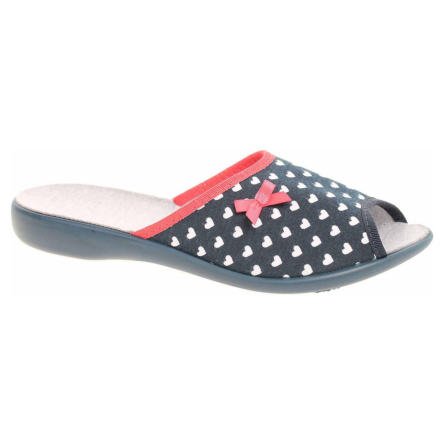 9b5c33323057 detail Dámske domáce papuče Befado 254D099 modrá