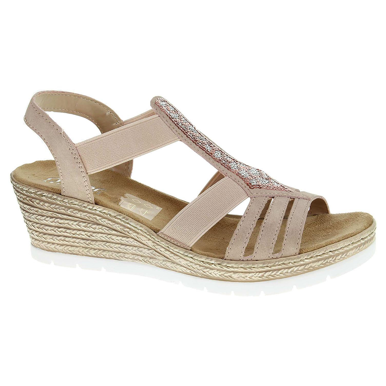 8a3675b9b28e detail Dámske sandále Rieker 61913-31 rosa