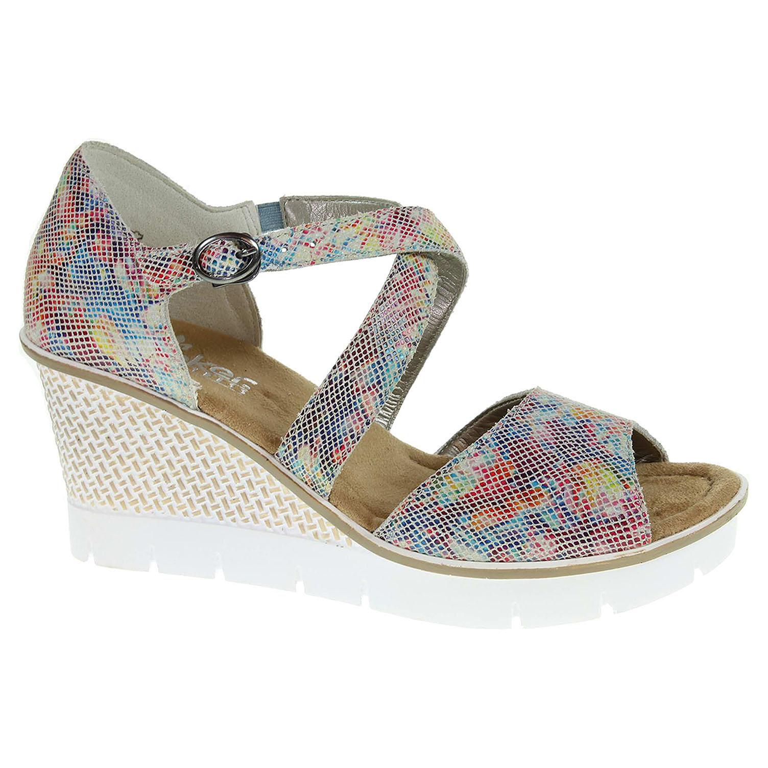 33d45adf1ad85 Dámske sandále Rieker 68548-90 multi | REJNOK obuv