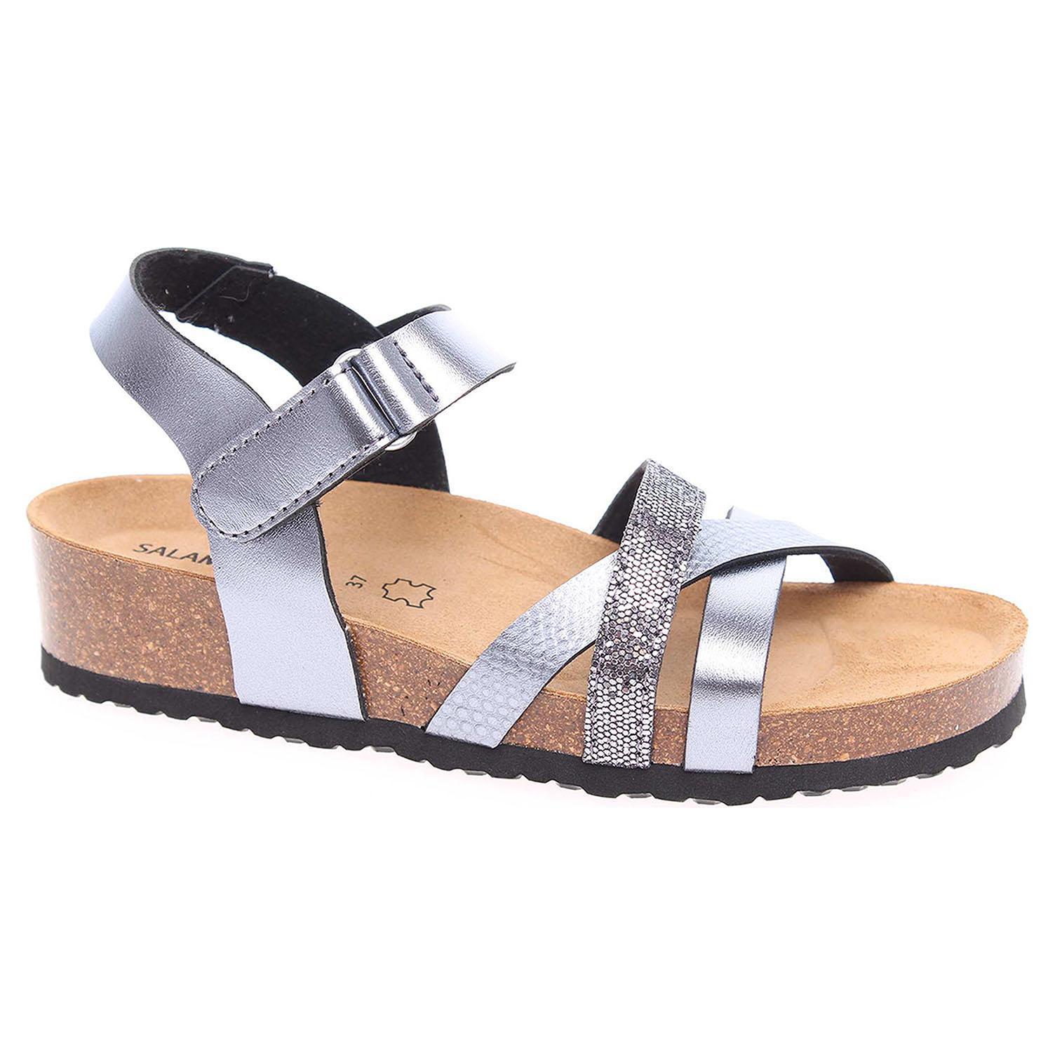 34c4ca0b3ba6 detail Dámske sandále Salamander 32-13103-35 anthrazit