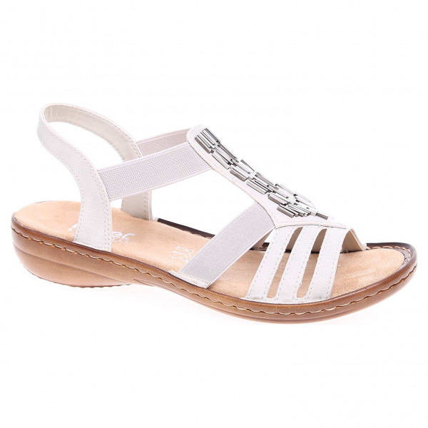 f209f38f5d35 detail Dámske sandále Rieker 60800-80 weiss