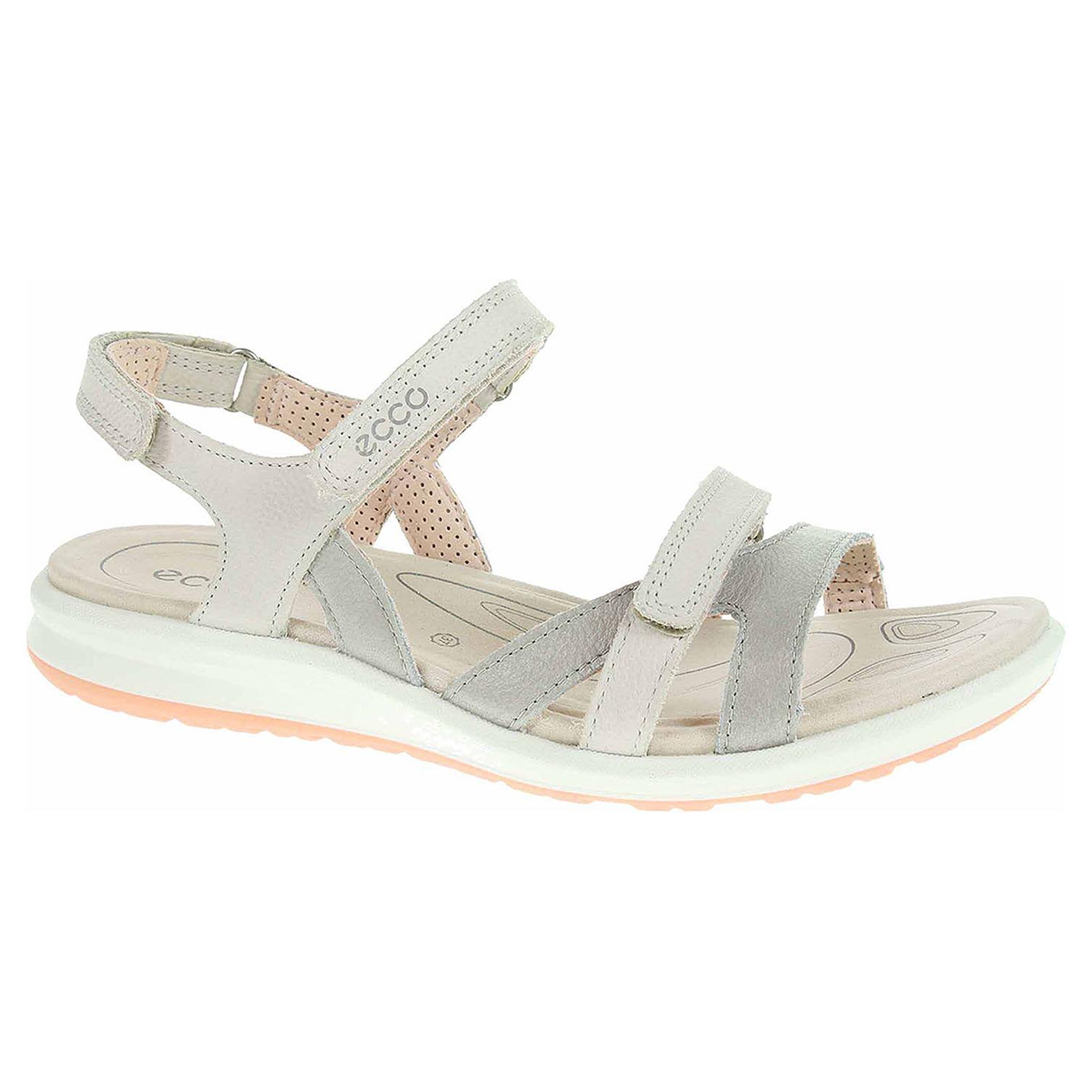 7169ecc103d4 detail Dámske sandále Ecco Cruise II 82183350862 silver grey-gravel-rose  dust