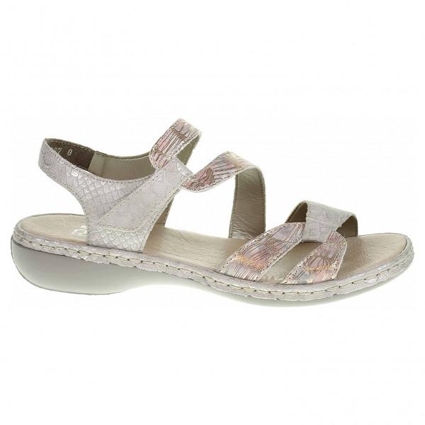 e63b97f5f64a detail Dámske sandále Rieker 65969-90 grau kombi