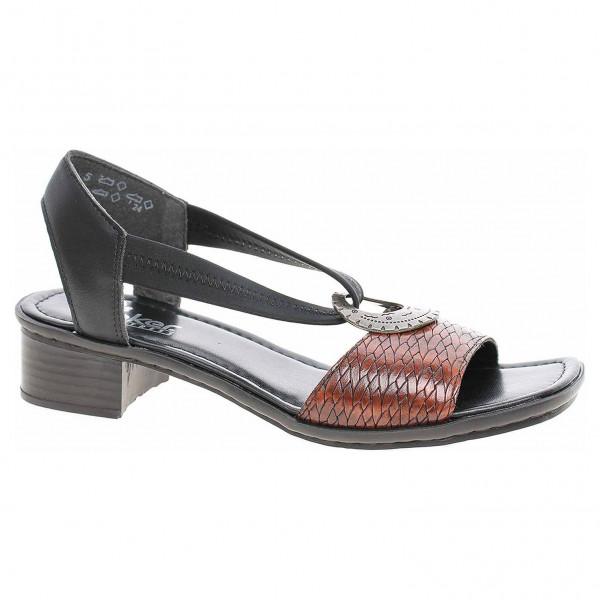 e39ad6ce52a7 detail Dámske sandále Rieker 62662-25 braun kombi