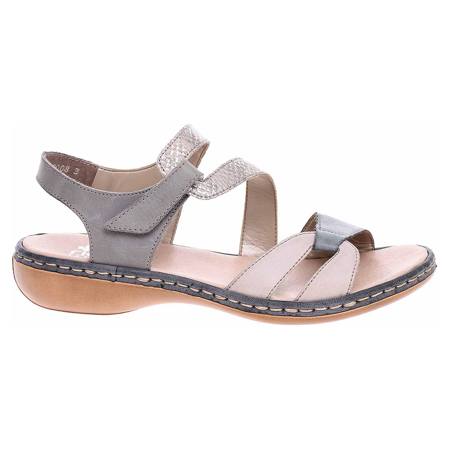 919529d3ab19 detail Dámske sandále Rieker 65969-42 grau kombi