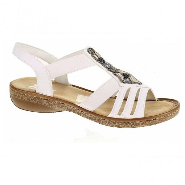 929f64f6e665 detail Dámske sandále Rieker 628G5-80 weiss