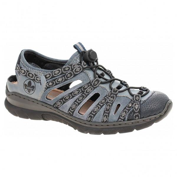 6ab5652353ca detail Dámske sandále Rieker L32P8-14 blau kombi
