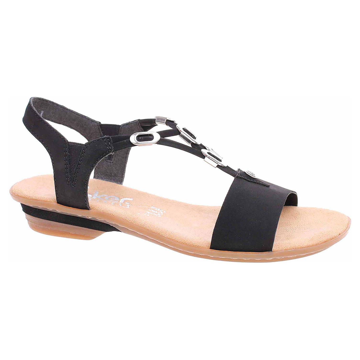e179c6fac5ca detail Dámske sandále Rieker 63453-00 schwarz