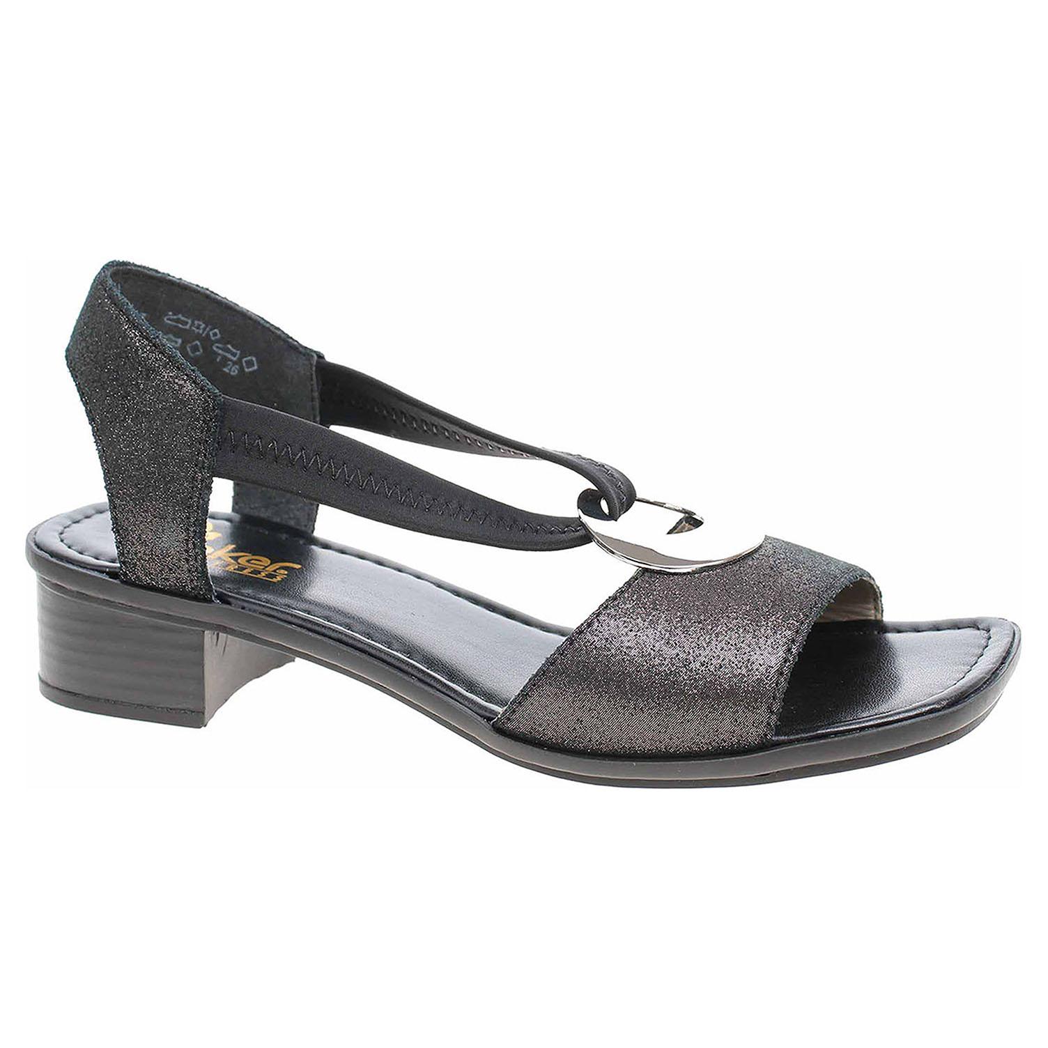 1e1532195e05 detail Dámske sandále Rieker 62662-03 schwarz