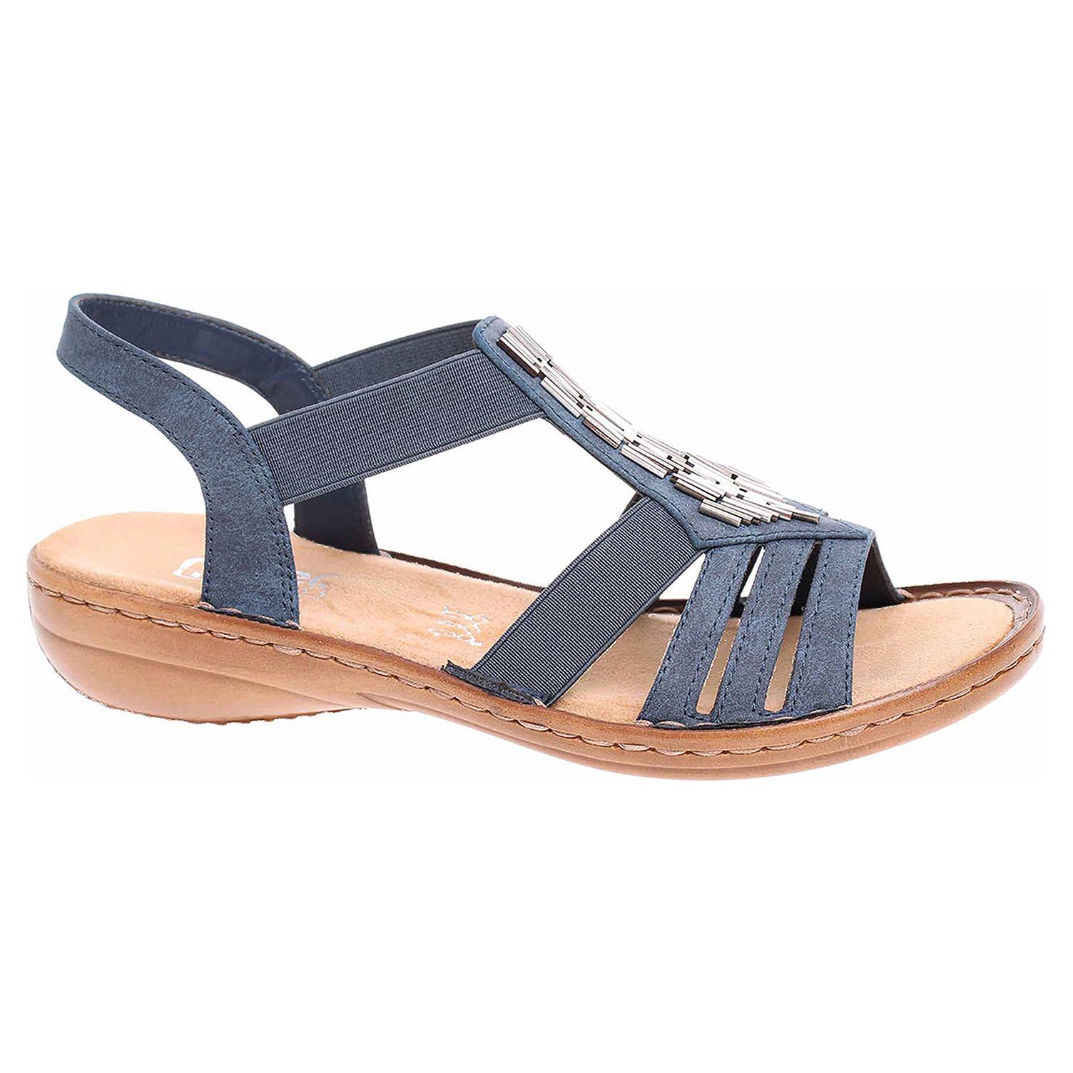 5099b30e018e detail Dámske sandále Rieker 60800-14 blau